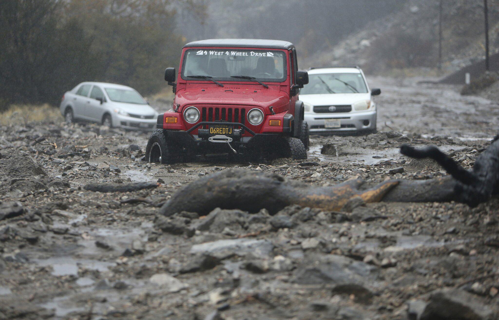 Bild zu Überflutungen in Kalifornien bedrohen Brandgebiete