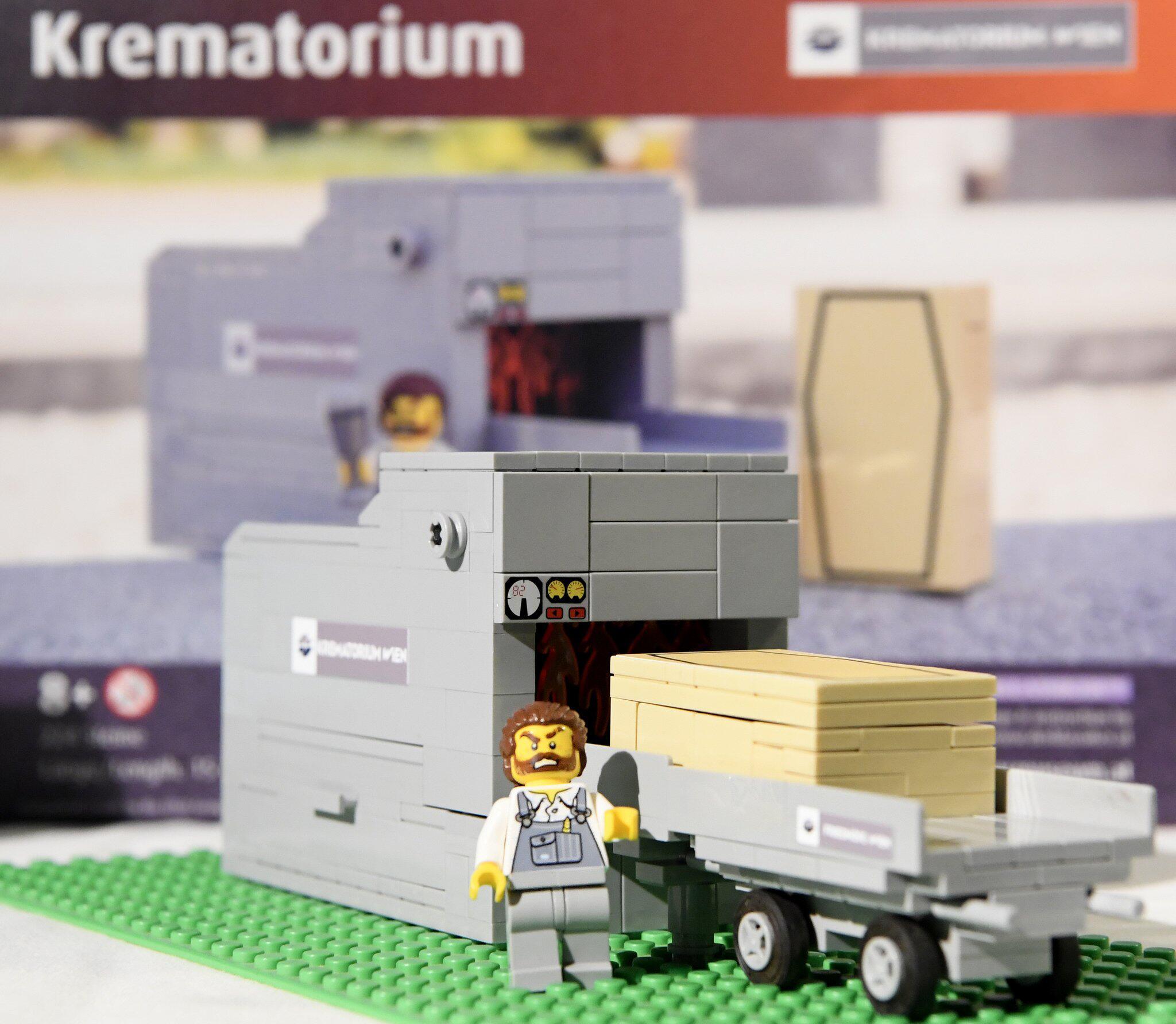 Bild zu Krematorium aus Lego-Bausteinen