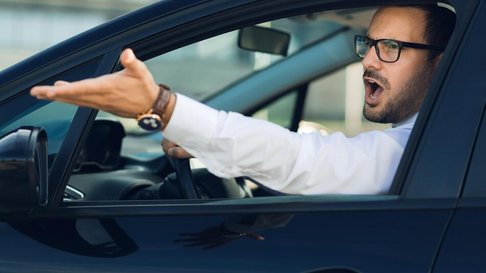 aggressivität, auto, verkehr