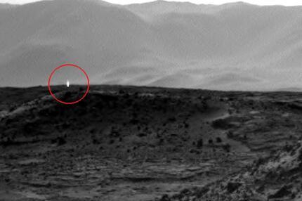 Marshorizont von Curiosity fotografiert