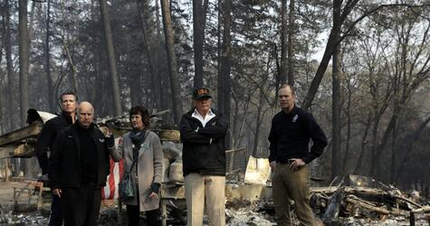 Trump besucht Brandopfer in Kalifornien