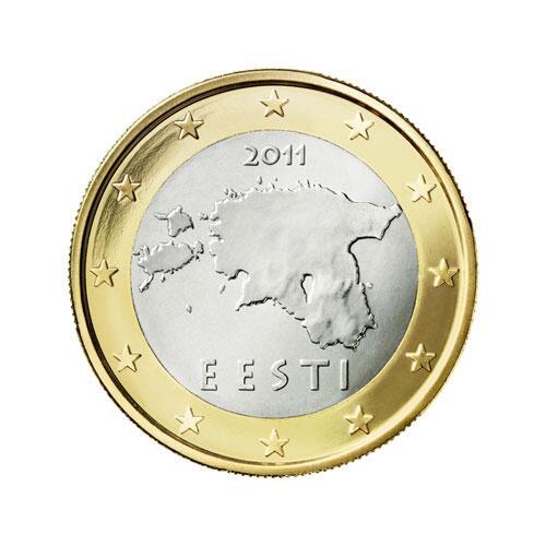 Bild zu 1-Euro-Münze aus Estland