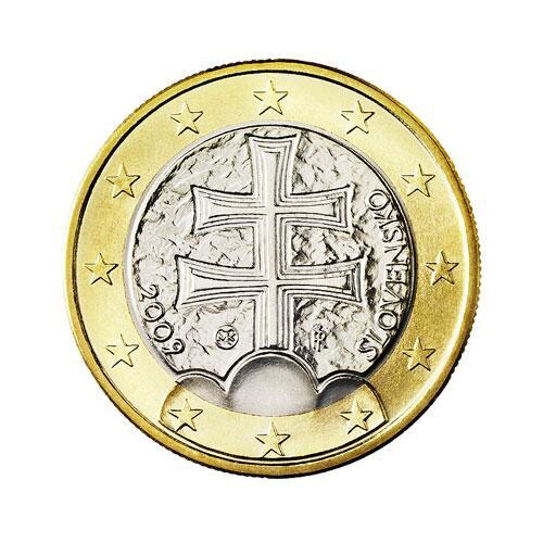 Bild zu 1-Euro-Münze aus der Slowakei