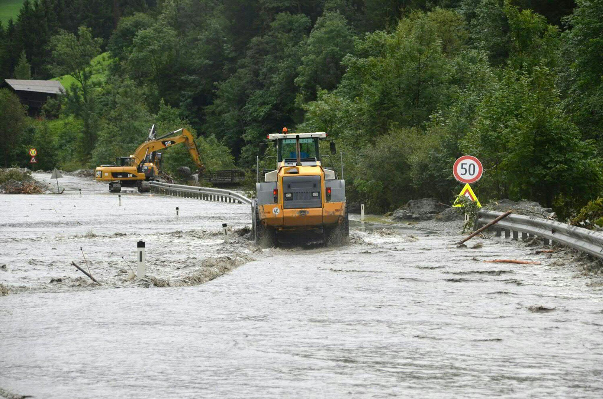 Bild zu Unwetter in Salzburg