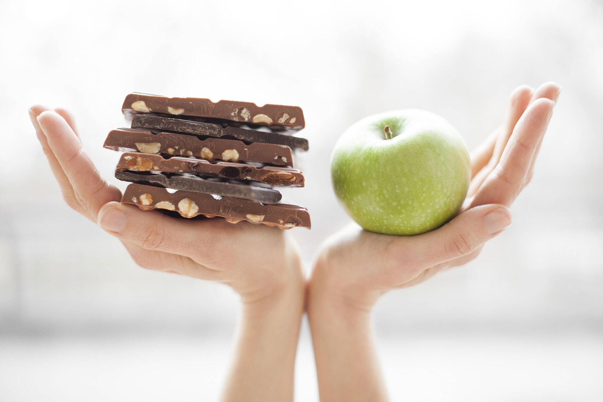 Bild zu Schokolad versus Apfel
