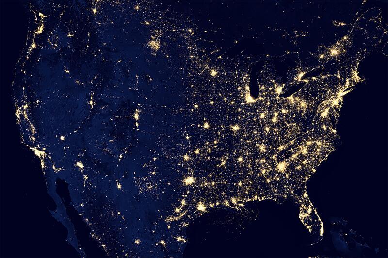 Bild zu USA bei Nacht