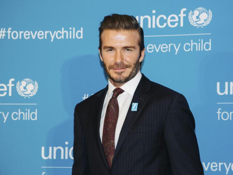 Bild zu Unicef.Geburtstag - David Beckham
