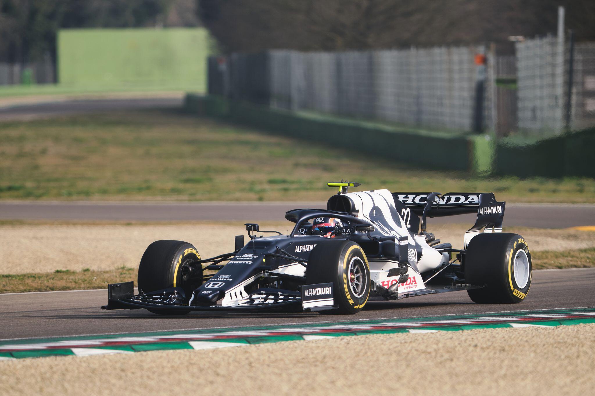 Bild zu Formel 1 - Testfahrt von Scuderia AlphaTauri