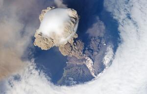 Vulkan Sarychev Eruption Weltraum