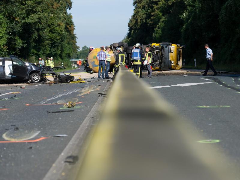 Bild zu Unfall auf der B54