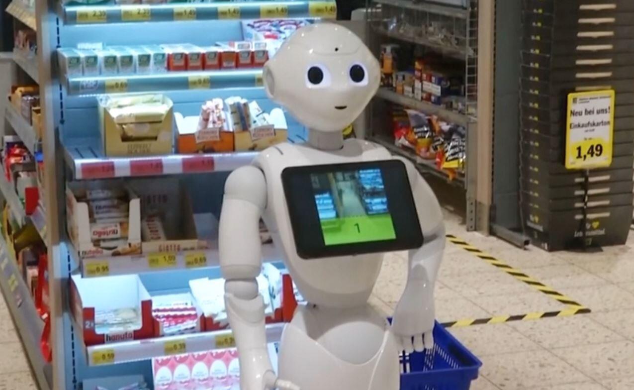 Bild zu Roboter, Edeka