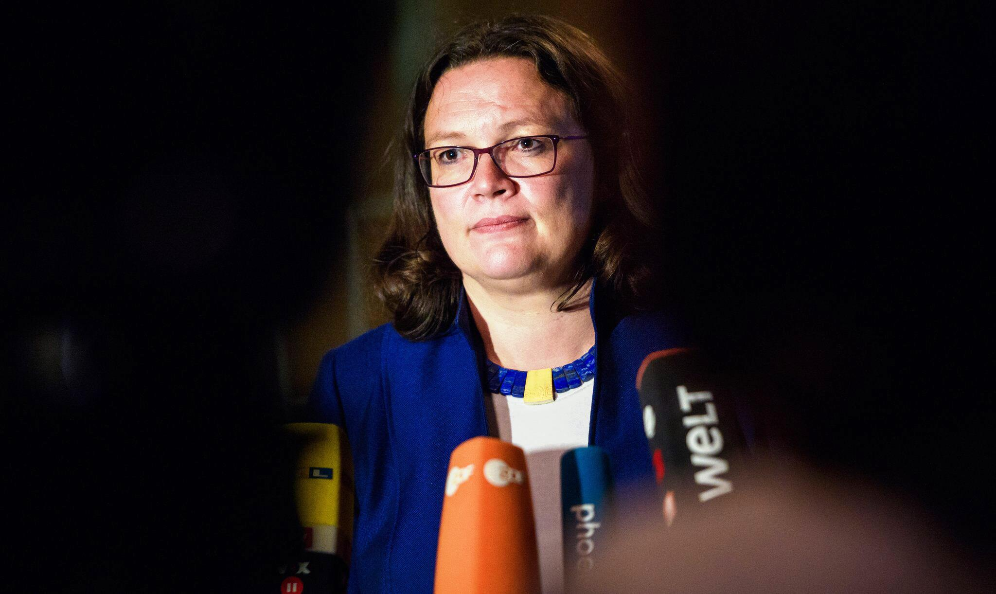 Bild zu SPD, Umfrage, Andrea Nahles