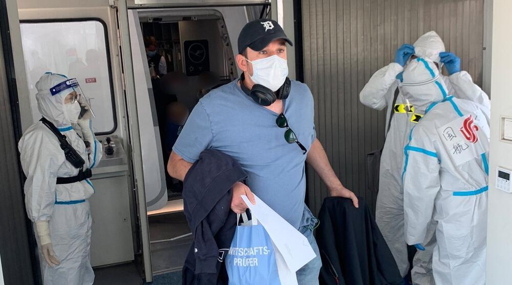 Coronavirus - Erster Flug mit Deutschen nach China