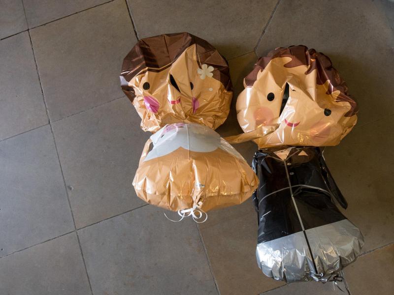Bild zu Hochzeitspaar-Luftballons