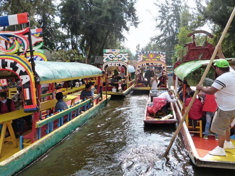 Bild zu Auf den Kanälen von Xochimilco
