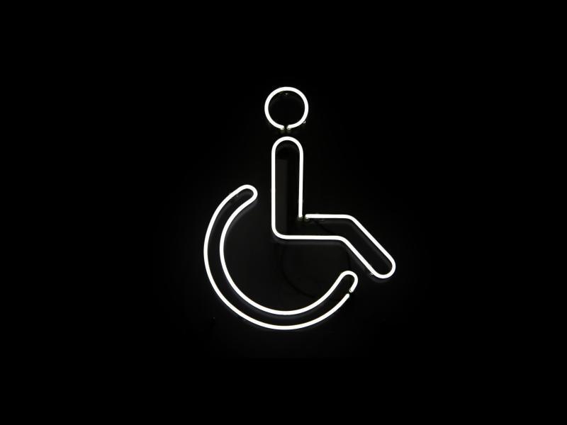 Bild zu Symbol für Rollstuhlfahrer