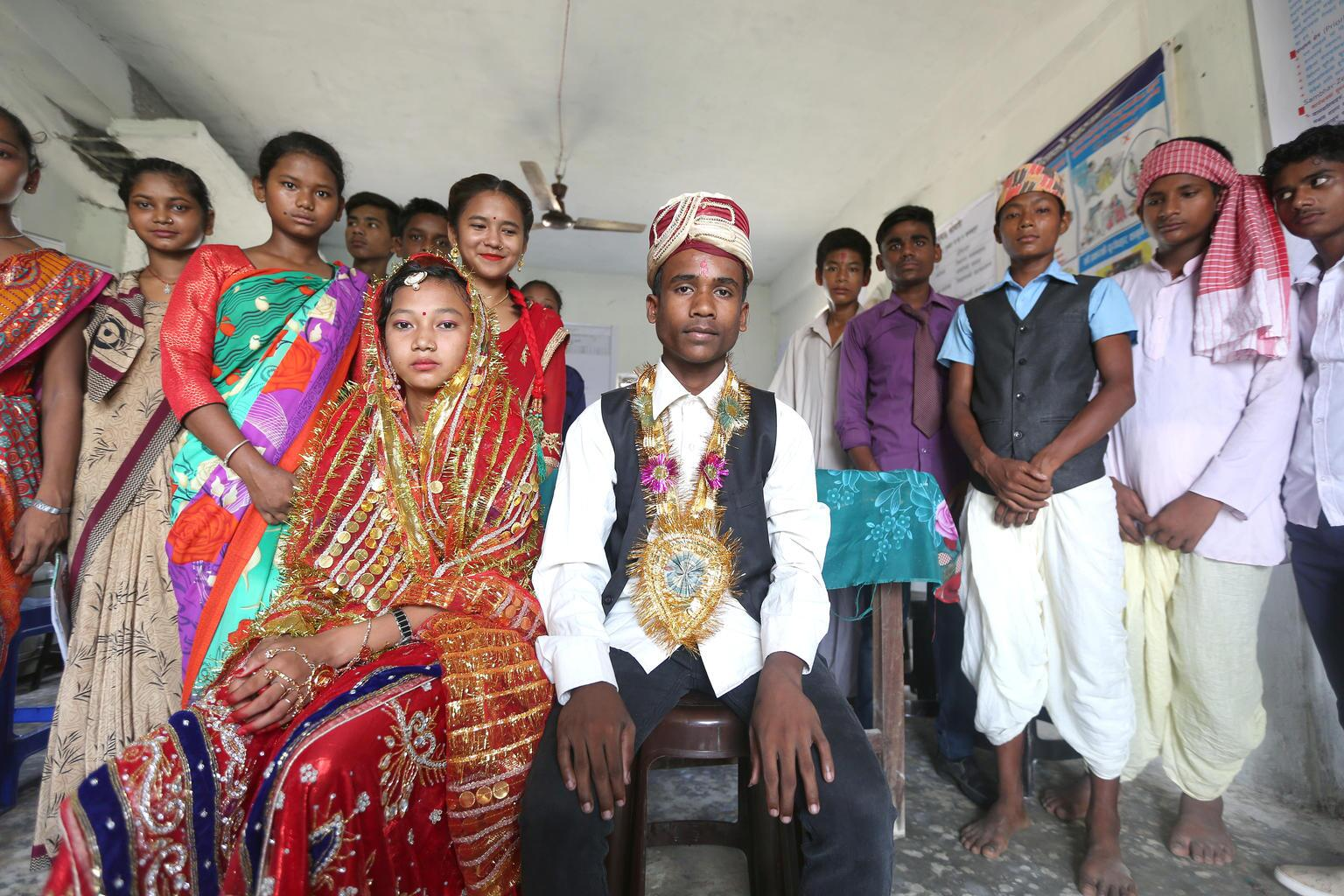 Bild zu Kinderehe, Braut, Bräutigam