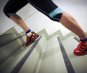 Training im Treppenhaus