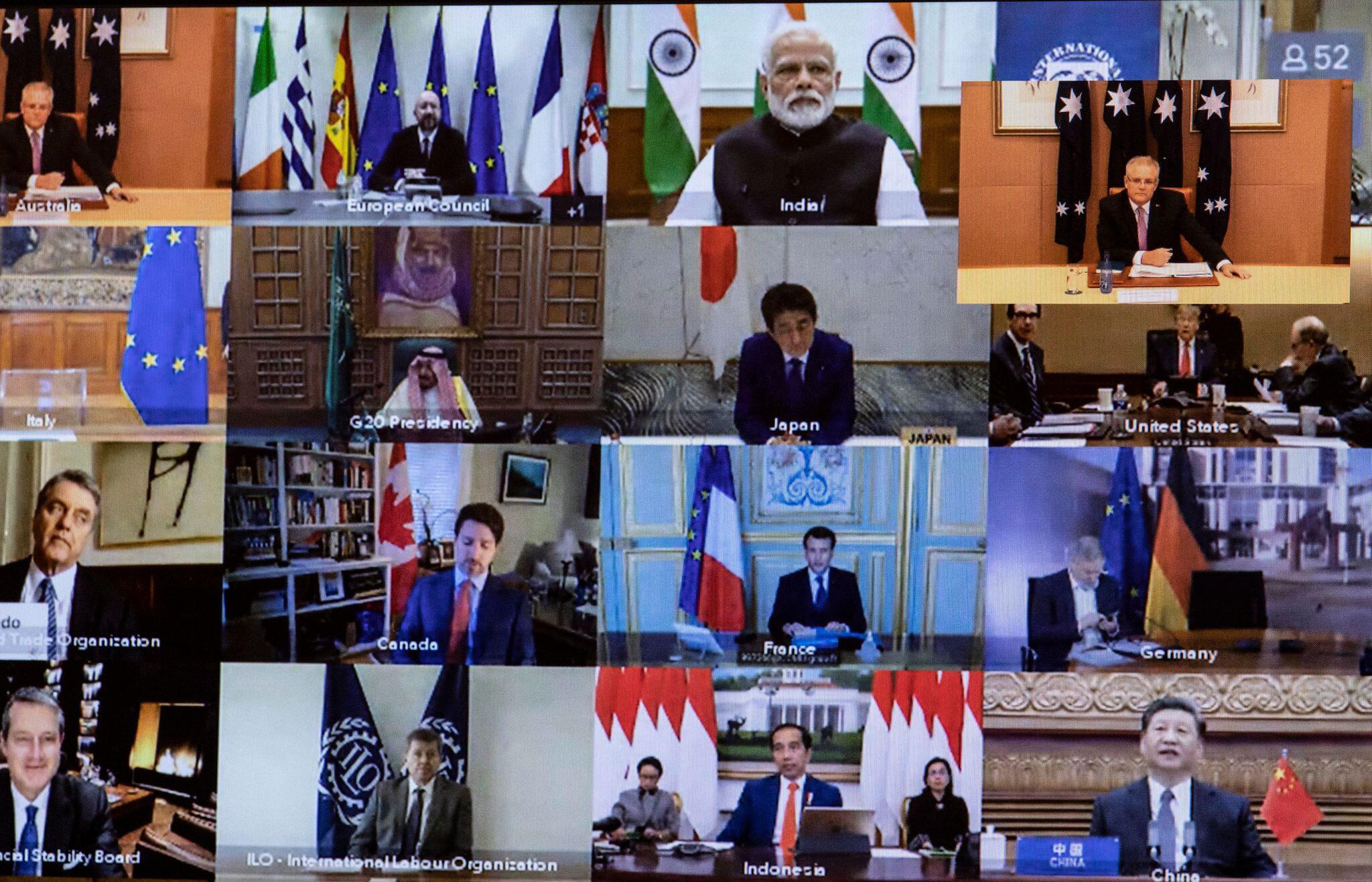 Bild zu Coronavirus - G20 Video-Gipfel