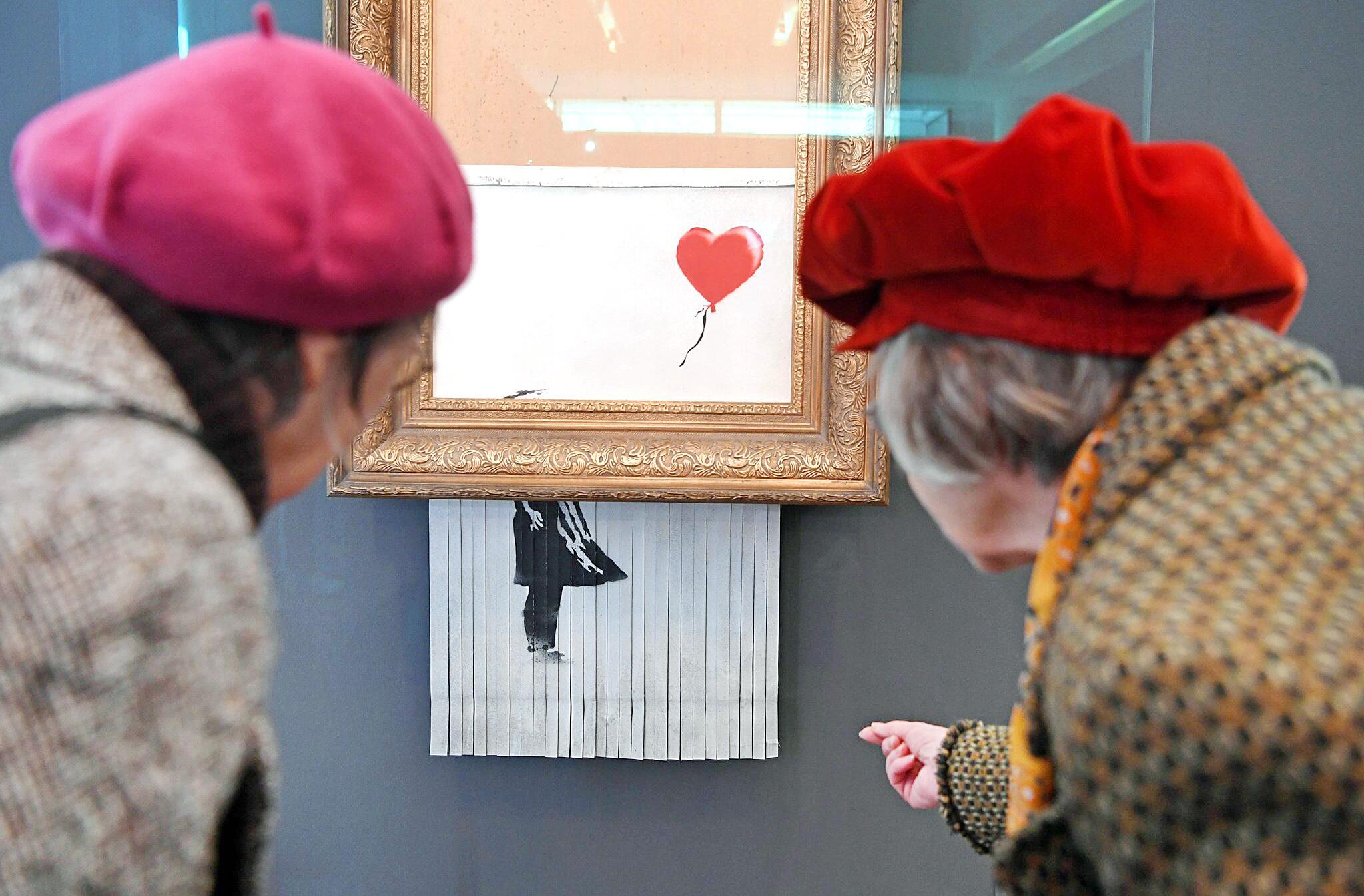 Bild zu Geschreddertes Banksy-Bild in Baden-Baden