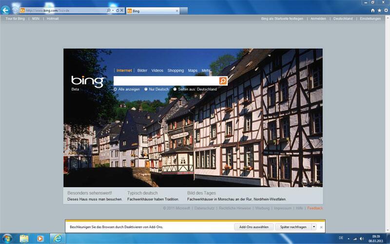 Bild zu Screenshot Internet Explorer 9