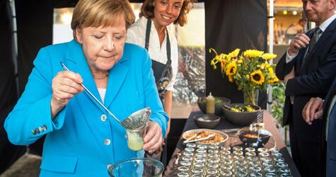 Merkel attends Saxon CDU parliamentary group party in Dresden