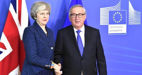 Theresa May, Jean-Claude Juncker, EU, Brüssel, Brexit, Gespräche