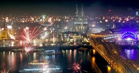 Silvester in Köln, Feinstaub, Feuerwerk, Feinstaubbelastung
