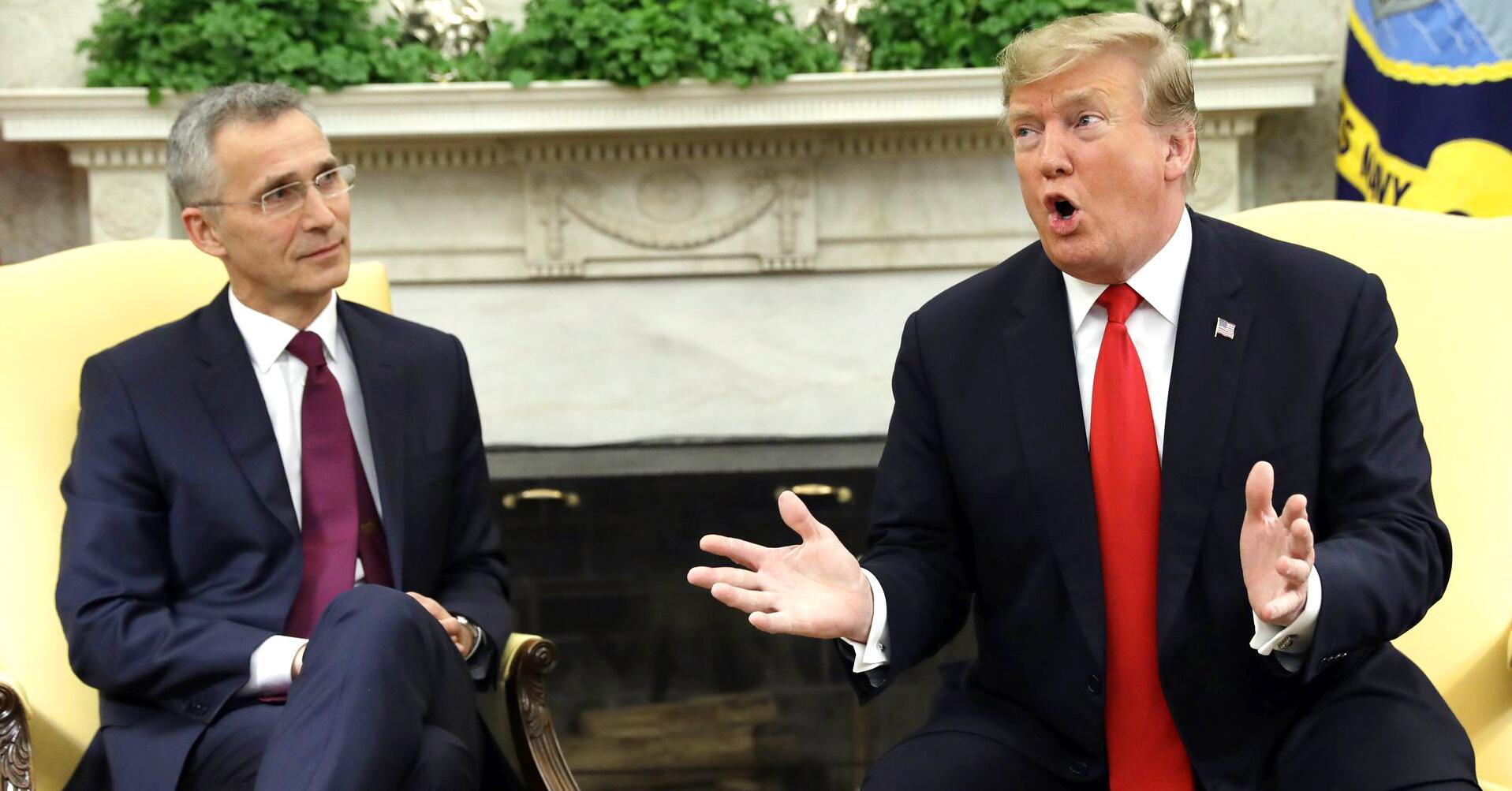 Bild zu Donald Trump empfängt Stoltenberg