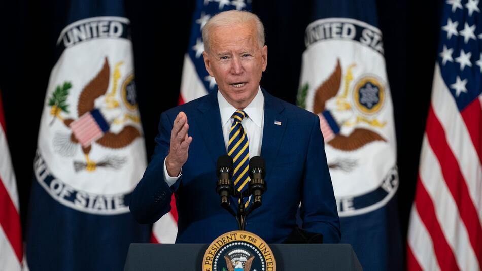 Rede von US-Präsident Biden im US-Außenministerium