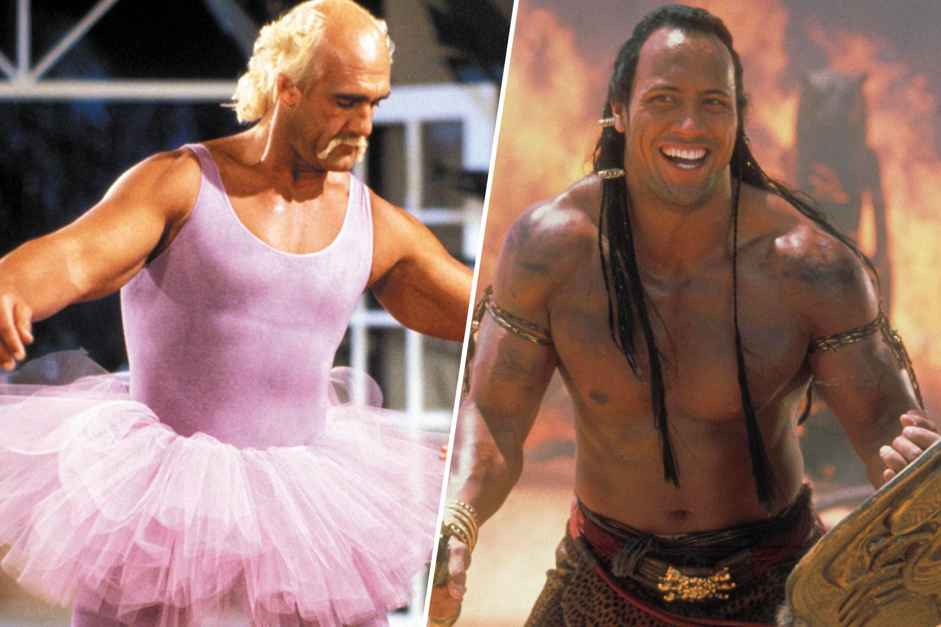 """Bild zu Dwayne """"The Rock"""" Johnson Wrestling und als Hercules"""