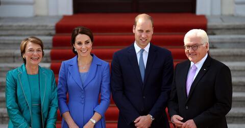 Angela Merkel, William, Kate