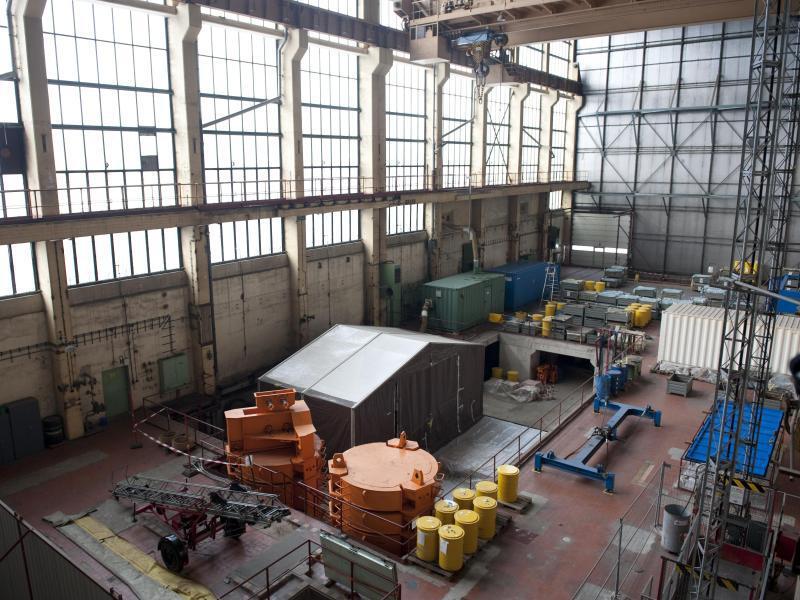 Bild zu Zurückgebaute Reaktoranlage