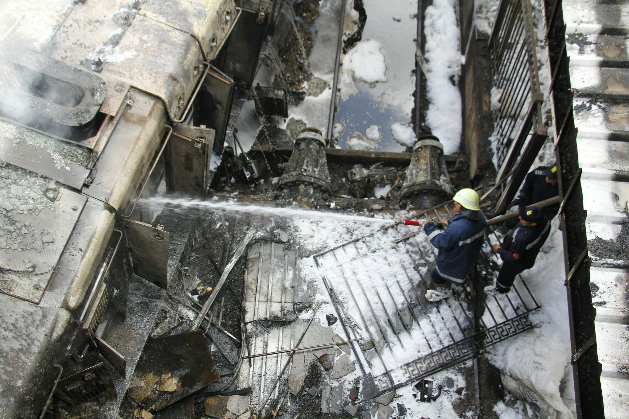 Bild zu Feuer am Hauptbahnhof von Kairo