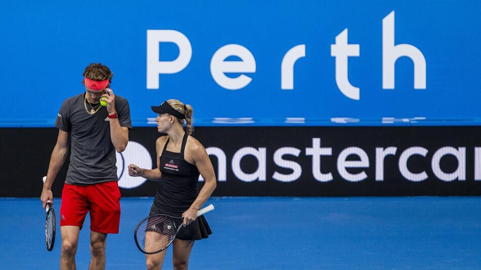 Alexander Zverev, Angelique Kerber, Perth, Australien, Hopman Cup