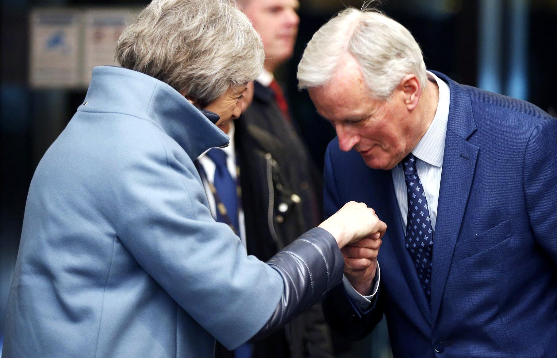 Bild zu Britische Premierministerin in Straßburg