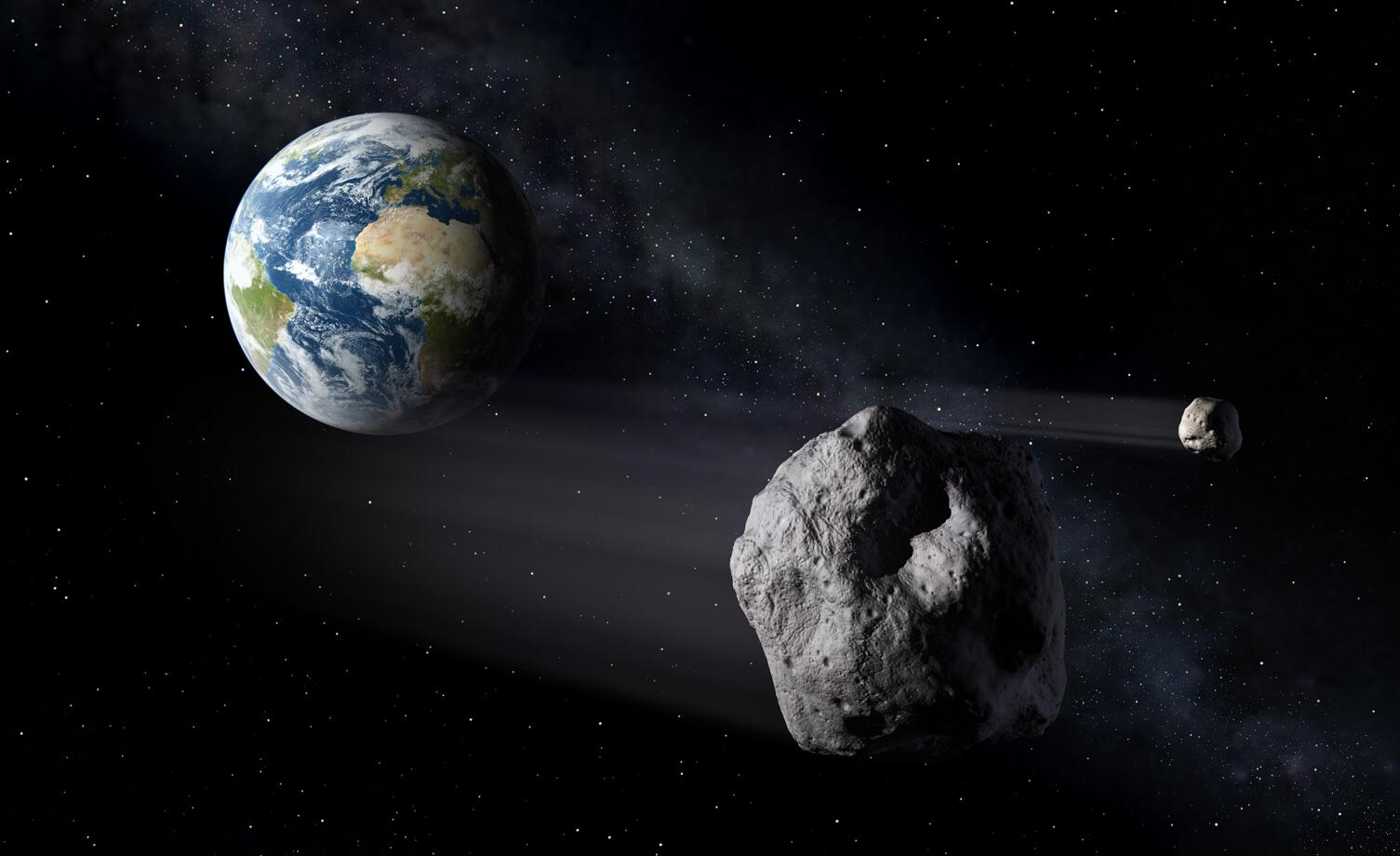 Bild zu Erde, Erdnahe Asteroiden
