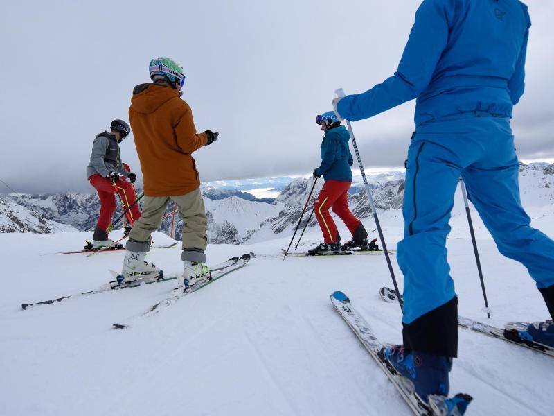 Bild zu Skifahrer auf der Zugspitze