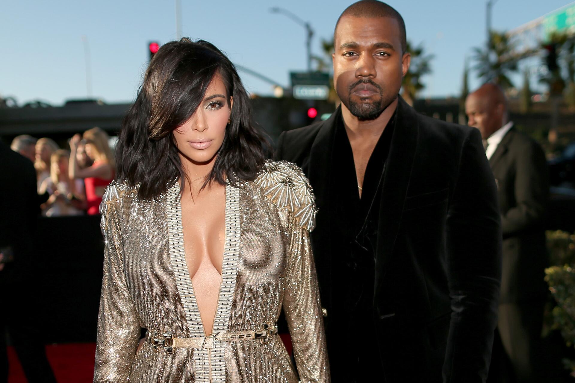 Bild zu Kim Kardashian, Kanye West