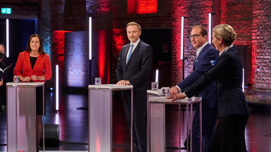"""Live-Sendung """"Der Vierkampf nach dem TV-Triell"""""""