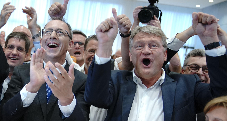 Bild zu Landtagswahlen in Sachsen - Wahlparty AfD