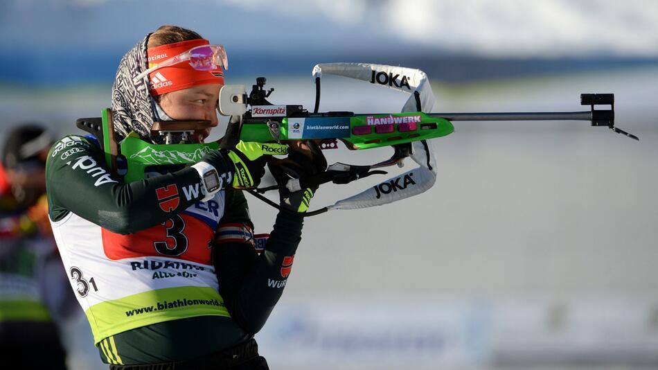 IBU-Cup, Ridnaun, Laura Dahlmeier, Mixed-Staffel