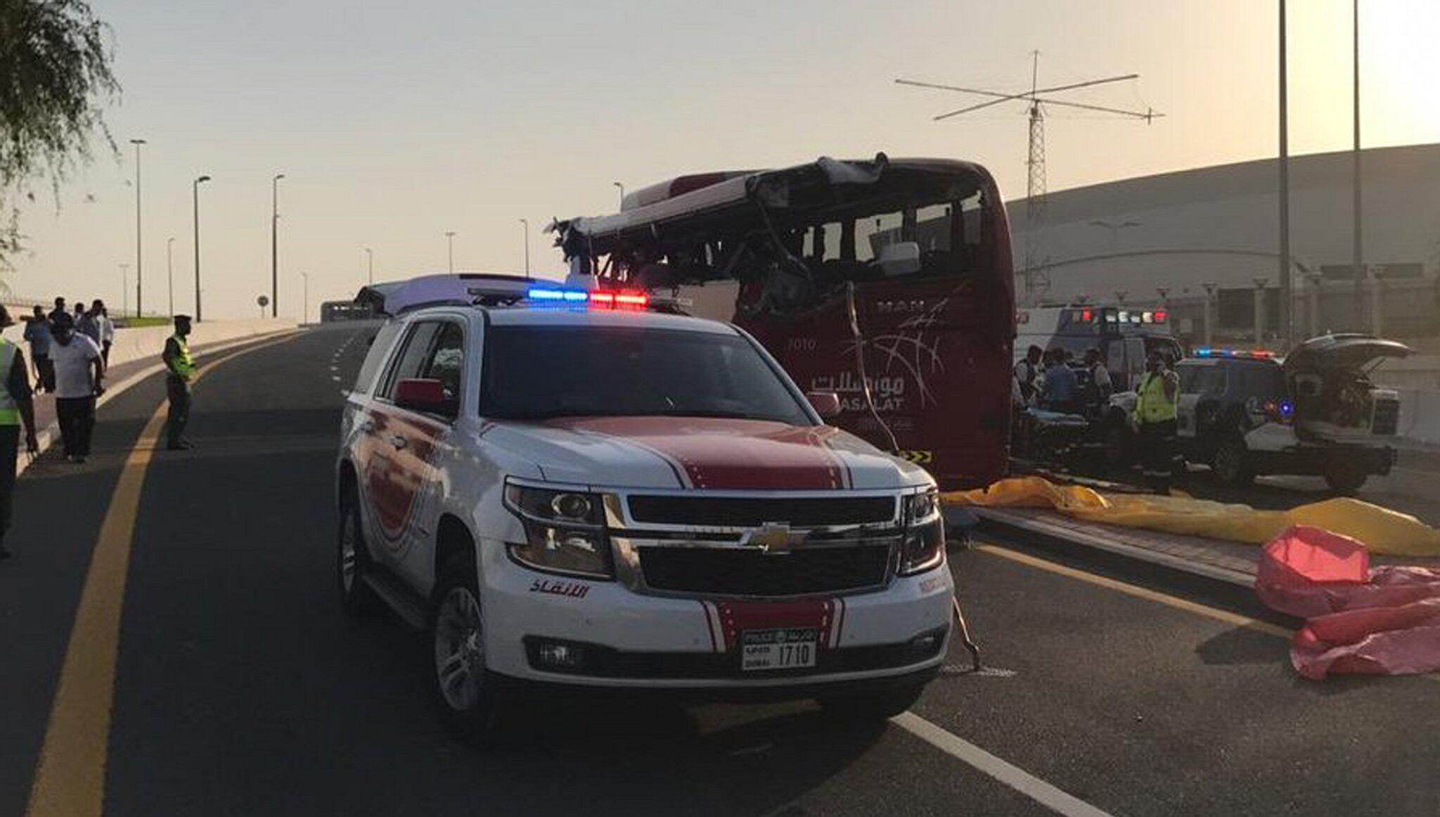 Bild zu Unfall mit Reisebus in Dubai