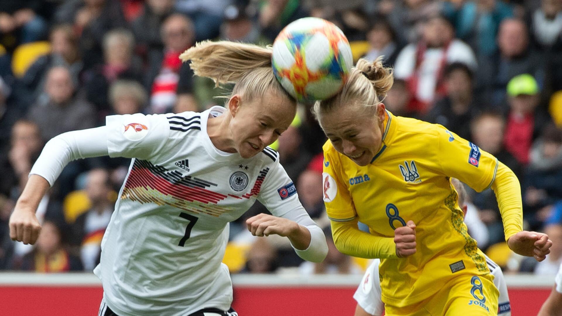 Bild zu Deutschland, Ukraine, Lea Schüller, Tetyana Kytayeva, Aachen, EM, EM-Qualifikation, Tivoli
