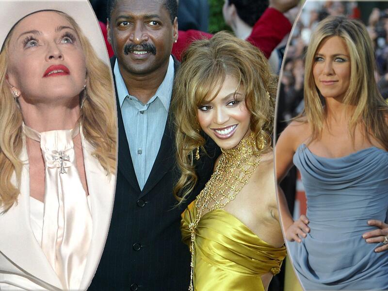 Bild zu Madonna, Mathew Knowles, Beyoncé und Jennifer Aniston