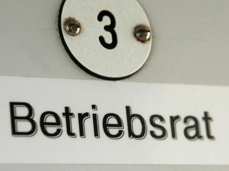"""Bild zu Schild mit Titel """"Betriebsrat"""""""