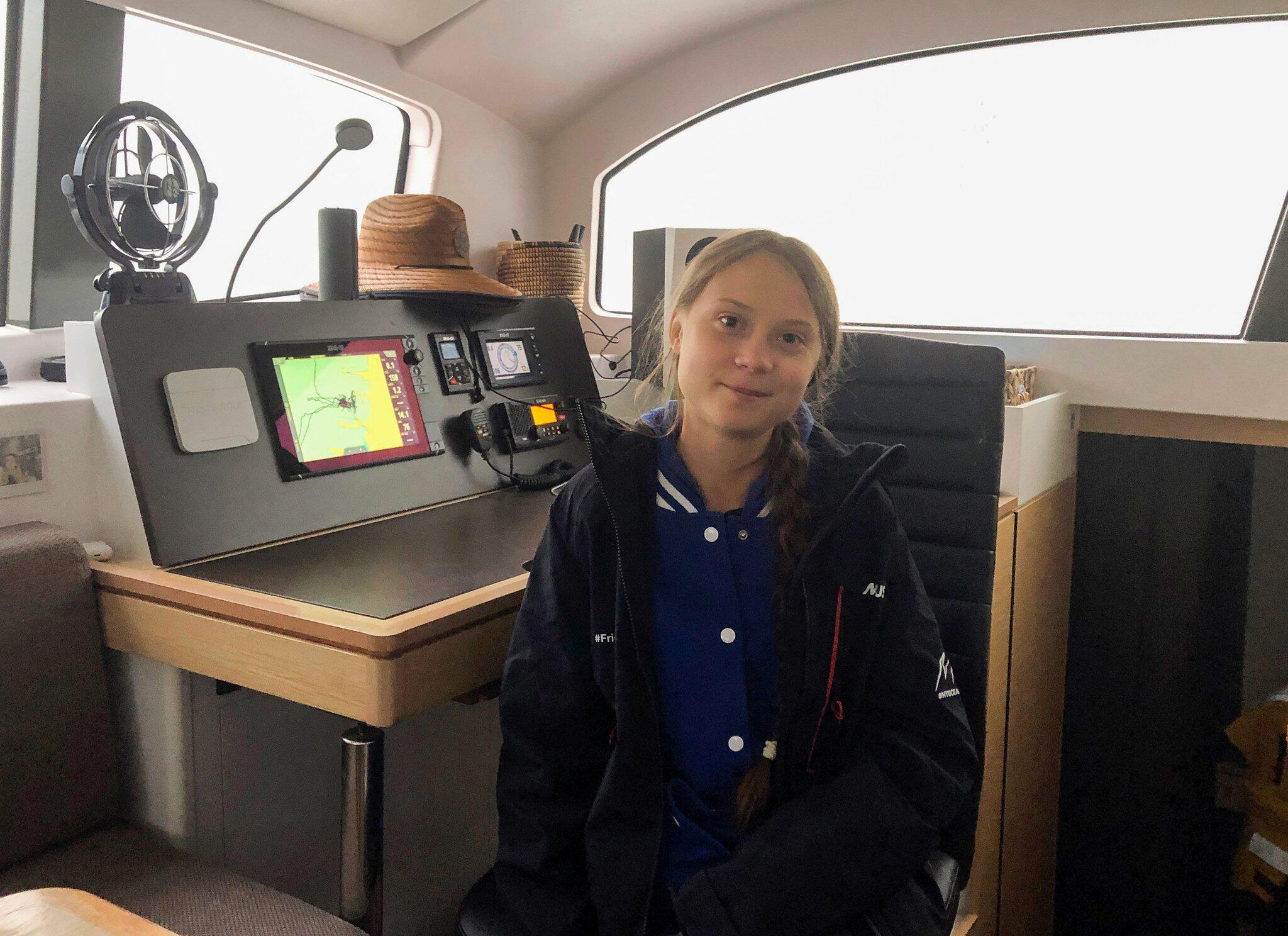 Bild zu Greta Thunberg segelt zu Weltklimakonferenz