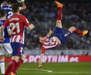 Real Sociedad San Sebastián - Atletico Madrid, Saul Niguez, Primera Division, Fallrückzieher