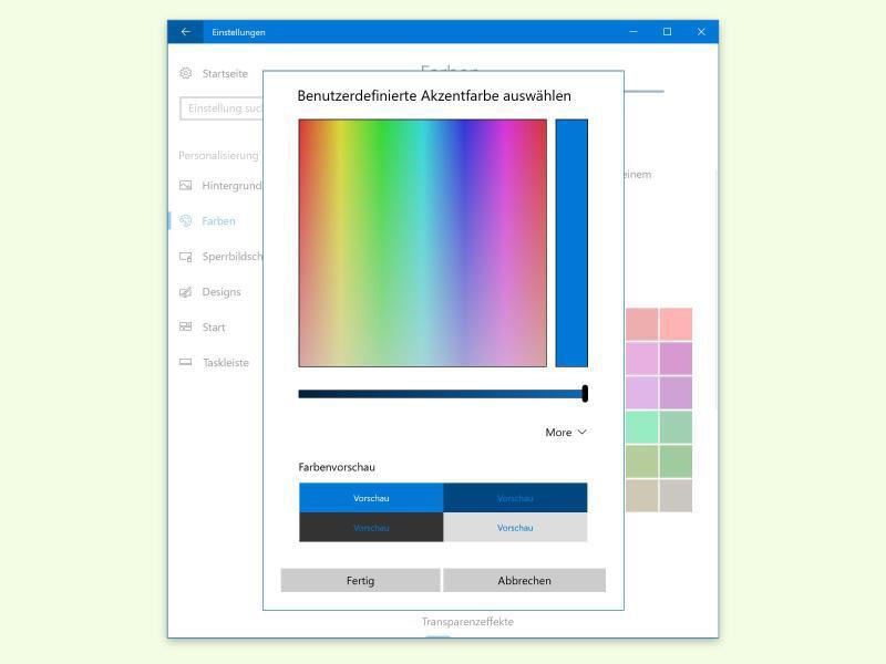Bild zu Wunschfarbe für Windows 10