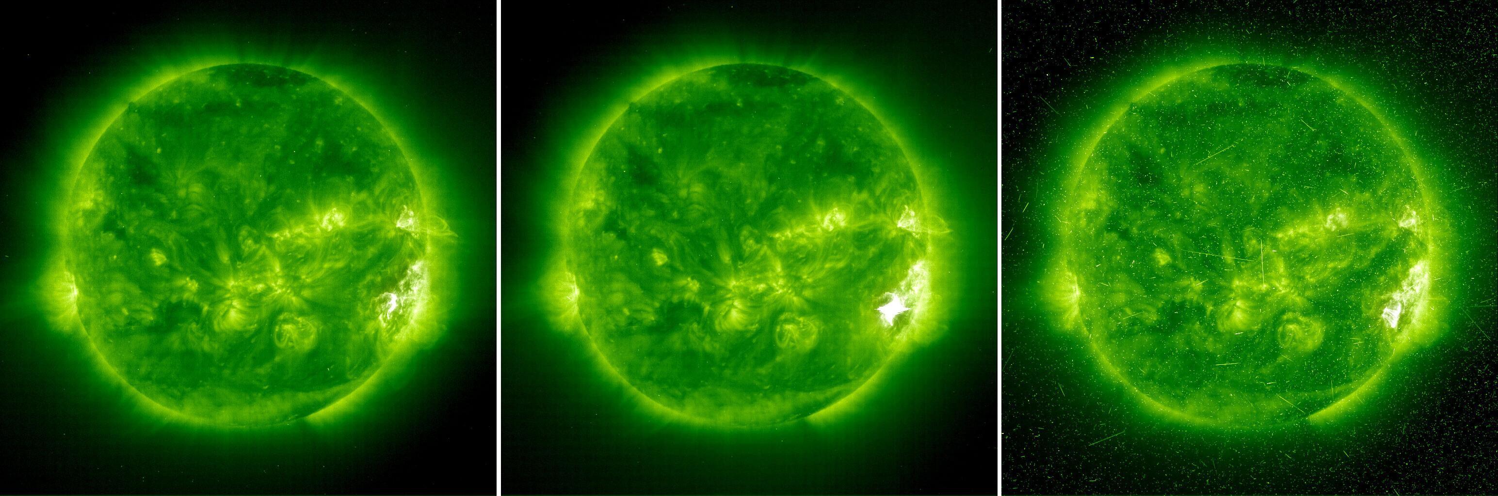 Bild zu Verschiedene Phasen einer Sonneneruption